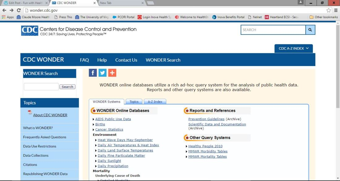 CDC databases